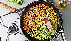 Podsmażamy warzywa