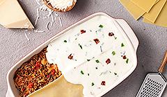 Lasagne wstawiamy do rozgrzanego piekarnika