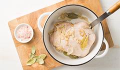 Zupa z dyni - Podsmażamy szynkę