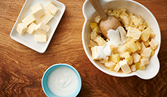 Kaczka - Przygotowujemy purée z selera