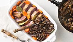 Piersi gęsi z grzybami - pieczemy w piekarniku
