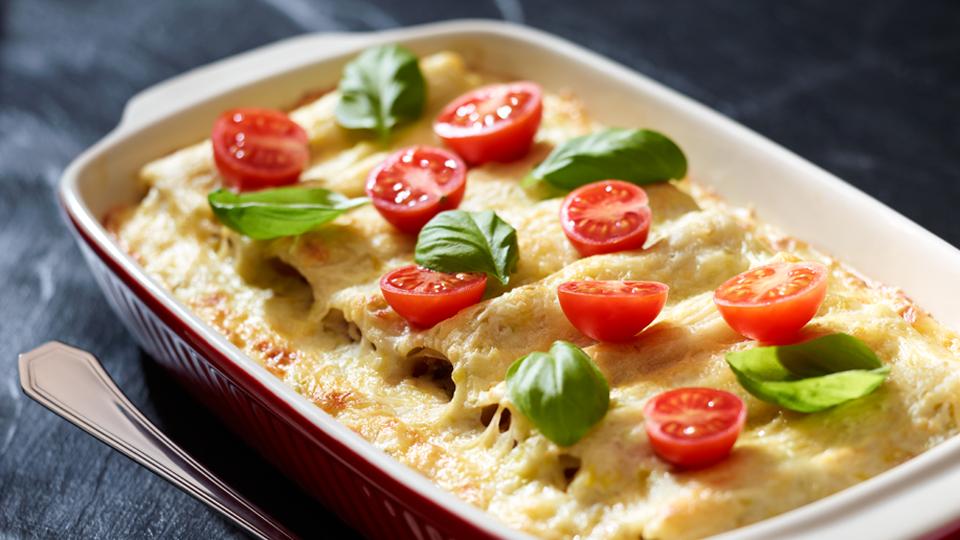 Cannelloni z mięsem w sosie porowym