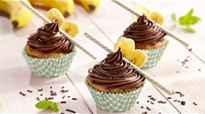 Muffiny bananowe z czekoladą
