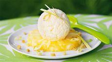Egzotyczne lody ananasowe