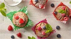 Muffiny z owocami lasu