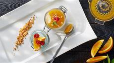 Deser Barcelona - mus cytrynowy z galaretką pomarańczową