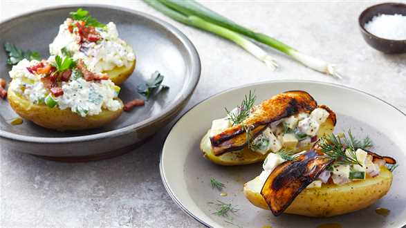 Ziemniaki z twarogiem w wersji wegańskiej i klasycznej
