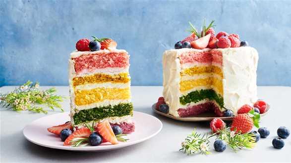 Tęczowy tort