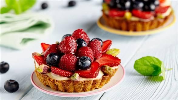 Tartaletki owocowe z kremem cytrynowym