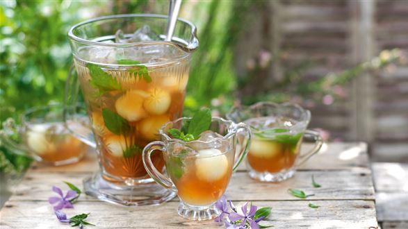 Mrożona herbata z melonem i miętą