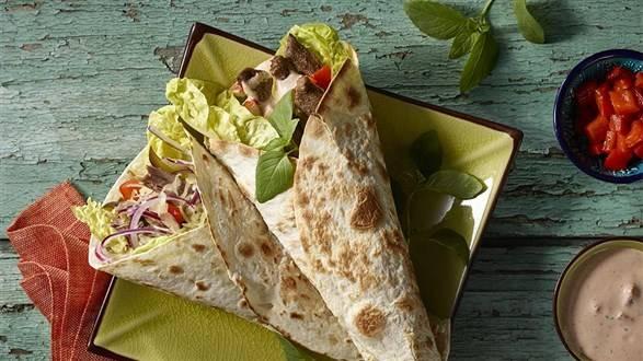 Kaczka orientalna w tortilli