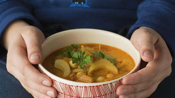 Zupa z ciecierzycy z mleczkiem kokosowym