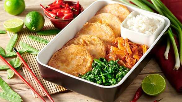Koreański dosirak – ryż z przystawkami w pudełku