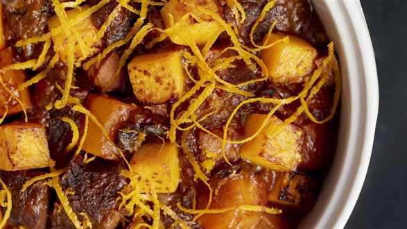 Gulasz z pomarańczami i dynią