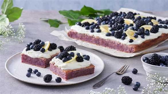 Ciasto jeżynowe bez laktozy