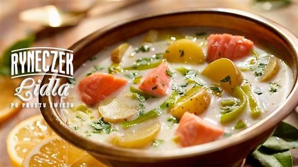 Zupa ziemniaczana z łososiem