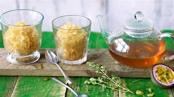 Granita herbaciana z marakują