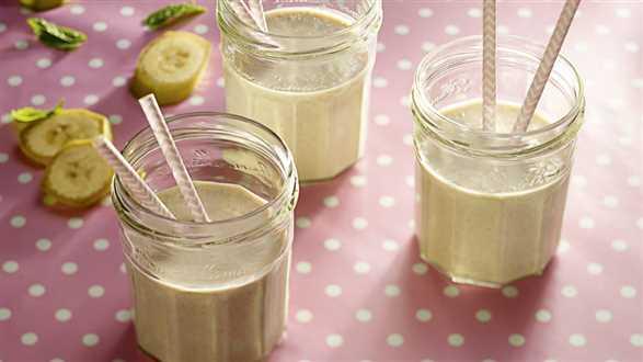 Pozytywnie zakręcone bananowe smoothie