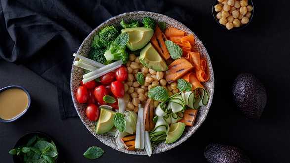 Wegański green bowl