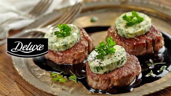 Steki z polędwicy wołowej z ziołowym masłem