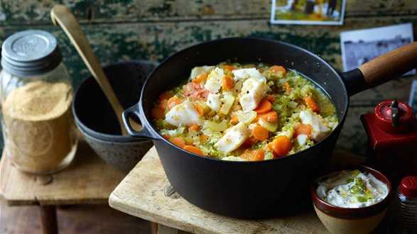 Zupa jarzynowa z amarantusem i dorszem