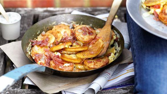 Smażone ziemniaki z jajkiem