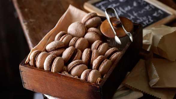 Makaroniki nadziewane czekoladą