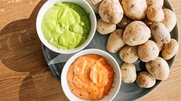 Ziemniaki z 2 sosami