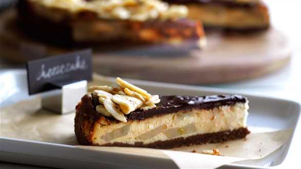 Sernik czekoladowo-bananowy