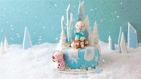 Jak zrobić zimowe ozdoby na tort?