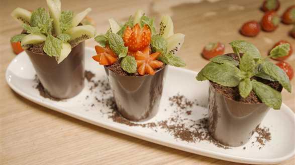 Jadalne doniczki z czekolady