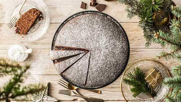Świąteczne ciasto czekoladowo-pomarańczowe
