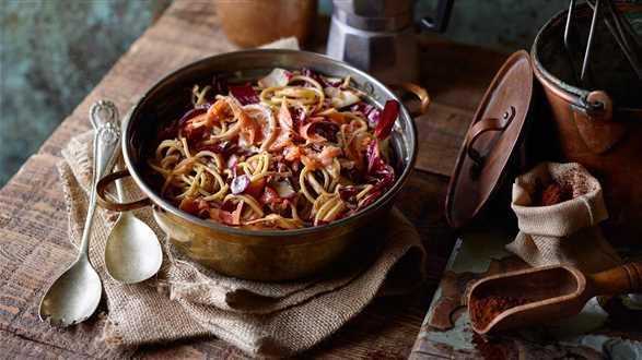 Spaghetti z łososiem