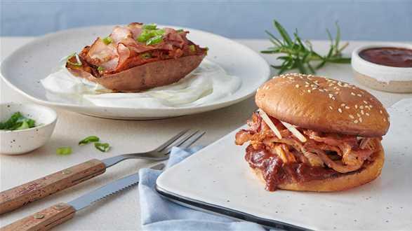 Pulled pork na 2 sposoby: faszerowane bataty i kanapki