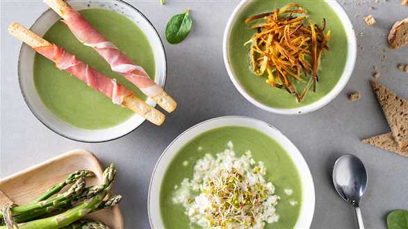 Zupa z zielonych szparagów na 3 sposoby