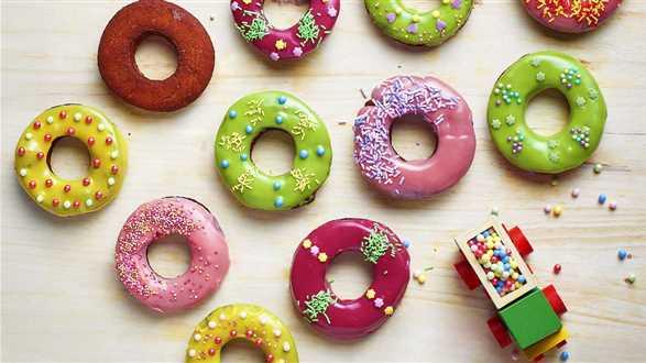 Kolorowe donuty