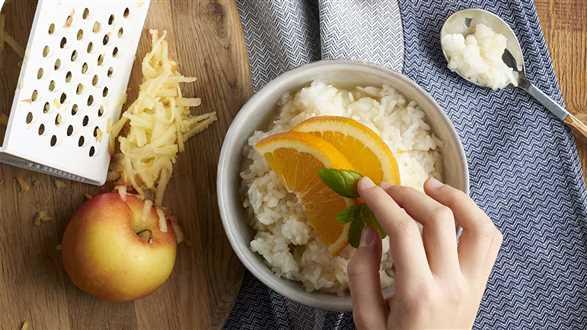 Kleik ryżowy z jabłkiem