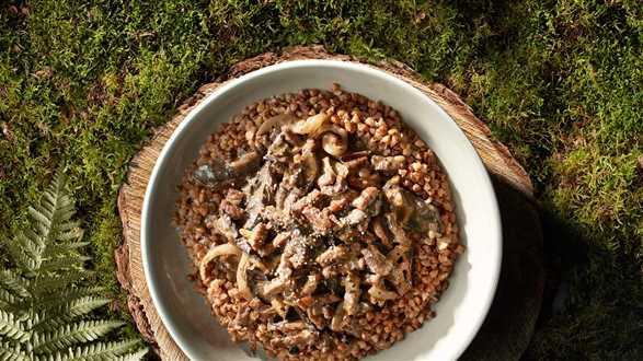 Gulasz z dzika z grzybami