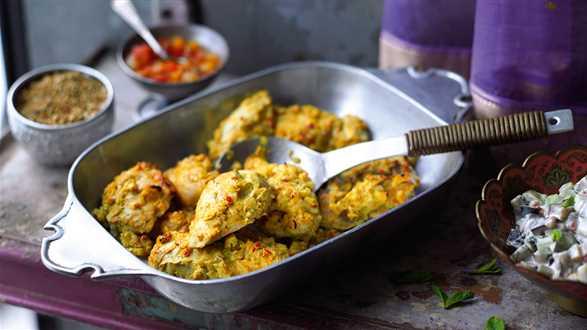 Marynowany kurczak z piekarnika (murgh tandoori)