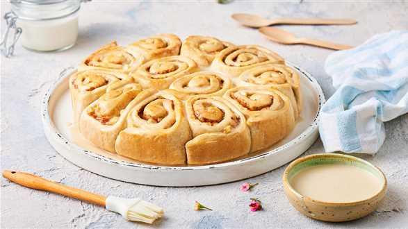 Wegańskie cinnamon rollsy z dyni