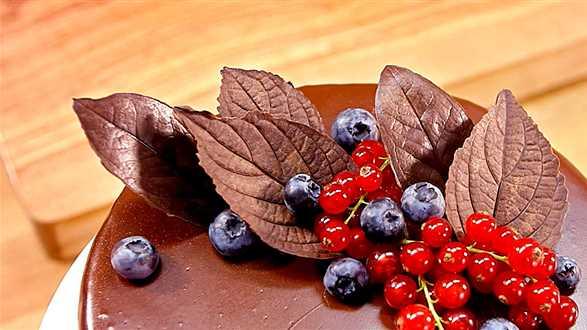 Jak zrobić czekoladowe listki?