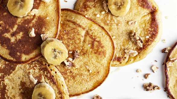 Dyniowe pancakes z karmelizowanymi bananami