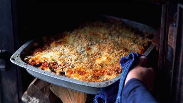 Parmigiana z bakłażanem i ziemniakami