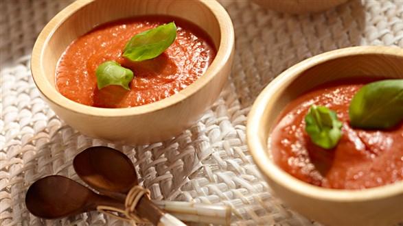 Zupa z suszonymi pomidorami i mascarpone