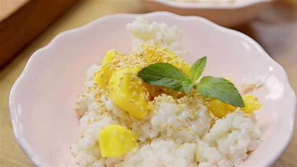 Ryż na mleczku kokosowym z mango