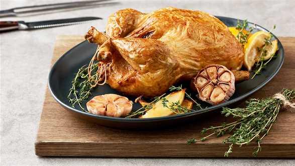 Kurczak faszerowany kaszą gryczaną i żurawinami