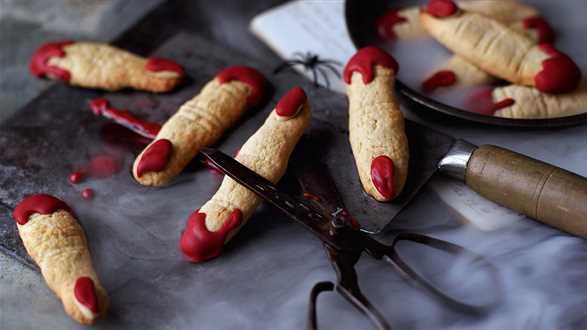 Halloweenowe ciastka z migdałami