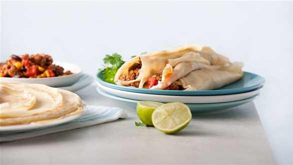 Los burritos, czyli tortilla z mięsno-warzywnym farszem