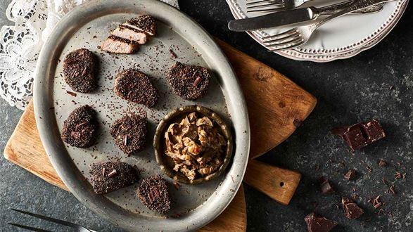Polędwiczki wieprzowe z czekoladą