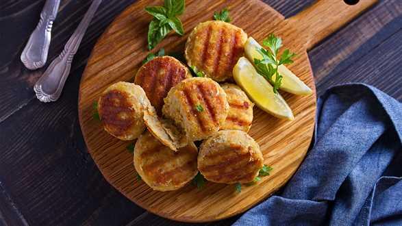 Cytrynowe kotlety z kaszy bulgur